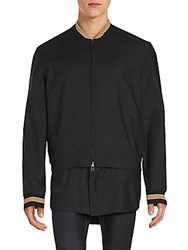 3.1 Phillip Lim Stripe Detailed Bomber Jacket Black
