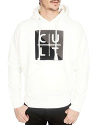 Cult Of Individuality Pullover Cotton Hoodie White