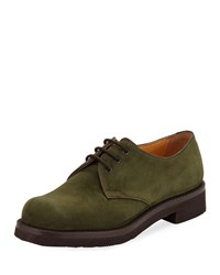 Gravati Lace Up Suede Oxford Green