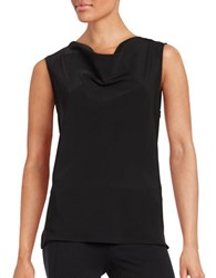 Nipon Boutique Mixed Media Cowlneck Shell Black