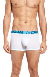 Andrew Christian Men's Almost Naked Tagless Boxer Briefs White