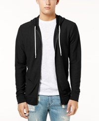 American Rag Men's Full Zip Hoodie Created For Macy's Deep Black