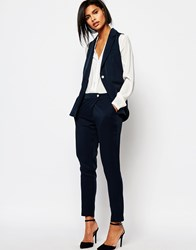 Vero Moda Peg Tailored Trouser Navy