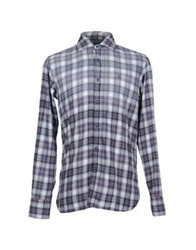 At.P. Co At.P.Co Long Sleeve Shirts Slate Blue