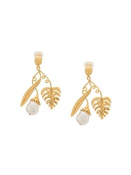 Aurelie Bidermann Grigri Drop Earrings Gold