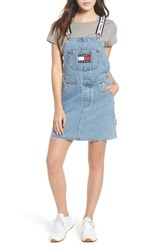 Tommy Jeans Dunagree Dress Light Denim Blue