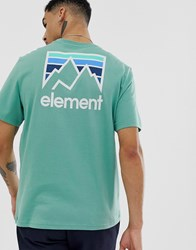Element Joint T Shirt In Green