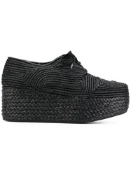 Robert Clergerie Pinton Platform Shoes Raffia 38.5