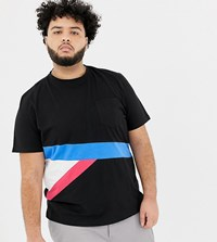 Another Influence Plus Contrast Color Block T Shirt Black