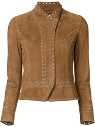Derek Lam 10 Crosby Fitted Jacket Brown