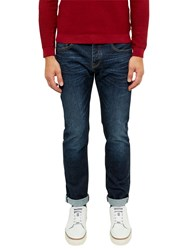 Ted Baker Spolky Straight Fit Selvedge Jeans Mid Wash