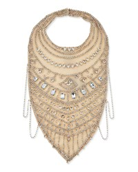 Crystal Chain Bib Necklace Ant Ivoire Crysta Haute Hippie