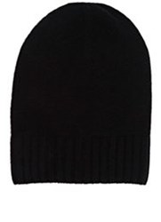Barneys New York Cashmere Knit Beanie Black
