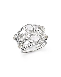 Ippolita Sterling Silver Rock Candy Constellation Ring In Clear Quartz White Silver