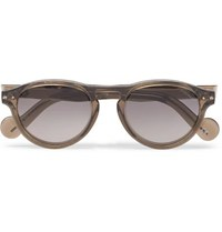 Moncler Round Frame Acetate Sunglasses Brown