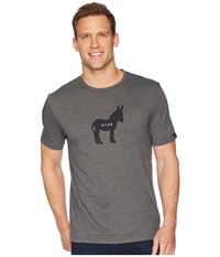 Prana Wise Ass Journeyman Charcoal Heather T Shirt Gray