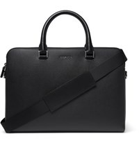 Michael Kors Harrison Cross Grain Leather Briefcase Black