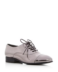 Ivanka Trump Olie Metallic Cap Toe Oxfords Pewter