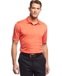 John Ashford Short Sleeve Solid Textured Performance Polo Sunlit Coral