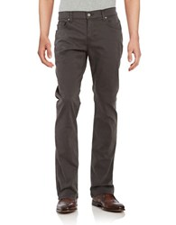 7 For All Mankind Sateen Cotton Blend Chinos Grey