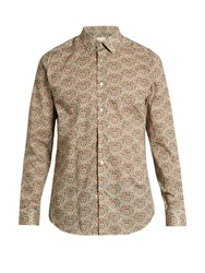 Paul Smith Single Cuff Floral Print Cotton Shirt Multi