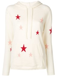 Chinti And Parker Star Print Hoodie Neutrals
