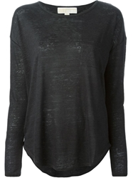 Michael Michael Kors Long Sleeve Oversized Top Grey