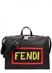 Fendi Mini Black Leather Messenger Bag