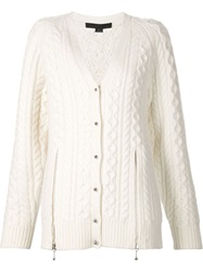 Alexander Wang Cable Knit Cardigan White