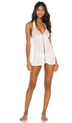 Bluebella Sofia Chemise And Brief Set In White. Ivory