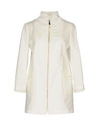 Allegri Coats And Jackets Overcoats White