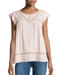 Democracy Jewelneck Baby Doll Top