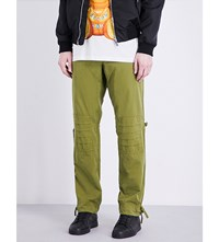 Moschino Military Regular Fit Cotton Trousers Olive