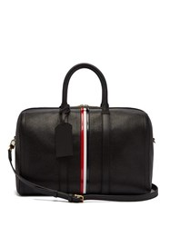Thom Browne Tricolour Striped Leather Holdall Black
