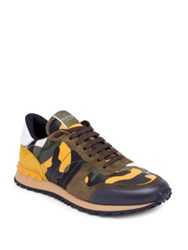 Valentino Camouflage Rock Running Sneakers Blue Brown