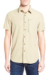 Fjall Raven Men's Fj Llr Ven 'Abisko' Regular Fit Short Sleeve Sport Shirt Cork