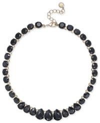 Charter Club Gold Tone Jet Stone Necklace Created For Macy's Black