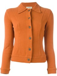 Romeo Gigli Vintage Knit Cardigan Yellow And Orange
