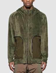 White Mountaineering W Zipped Pocket Parka Green