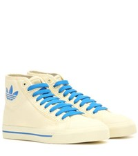 Raf Simons Matrix Spirit High Top Canvas Sneakers White