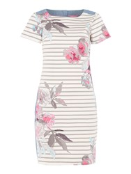 Joules Jersey Woven Mix Dress Multi Coloured Multi Coloured