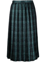 Marco De Vincenzo Pleated Skirt Blue