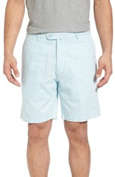 Peter Millar 'S Crown Cool Delave Flat Front Shorts Grotto Blue