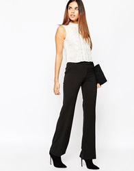Warehouse Skinny Flared Trouser Black