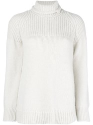 Dondup Turtle Neck Jumper Nude And Neutrals