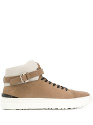 Buscemi Lace Up Hi Top Sneakers Brown