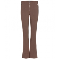 Marc Jacobs Flared Wool Blend Trousers Cocoa