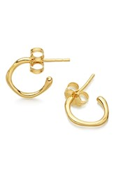 Missoma Golden Molten Tiny Hoop Earrings