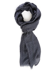 Hackett Blue Scarf With White Dots