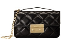 Michael Michael Kors Sloan Small Quilted Messenger Black Messenger Bags